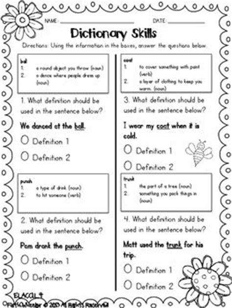 spring printables for language arts and math language math and dictionary skills
