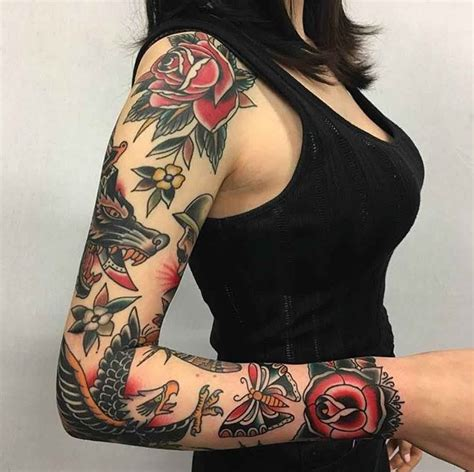 traditional tattoo sleeve designs ideas  meaning