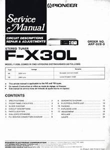 Pioneer Fx-30-l Tuner   Original Service Manual