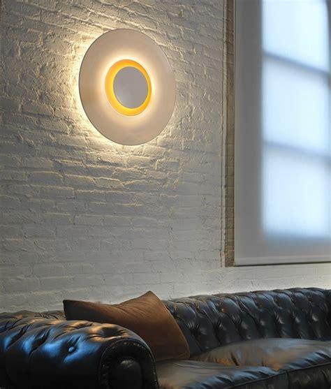 led circular wall light  gold interior