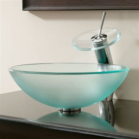 GD08 Tempered Frosted Glass Bathroom Sink Bathroom sinks