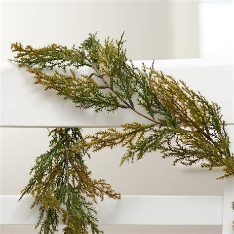 artificial cedar garland holiday florals christmas