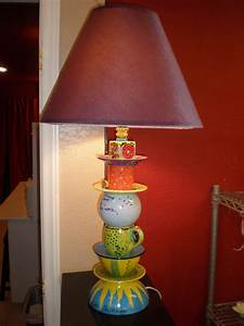 Stack, Various, Pieces, To, Make, A, Lamp, Base