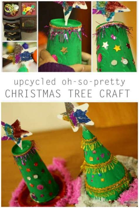 upcycled oh so pretty christmas tree craft hands on as