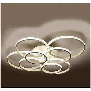 Eclairage Moderne : lustre led de salon moderne luminaire d 39 int rieur clairage plafond 8 tetes ~ Farleysfitness.com Idées de Décoration