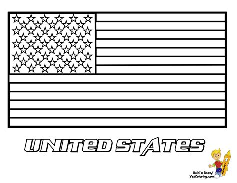 Fearless American Flag Coloring   Free  Military Flags ...