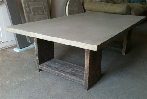 concrete coffee table diy diy concrete coffee table ideas the wooden houses