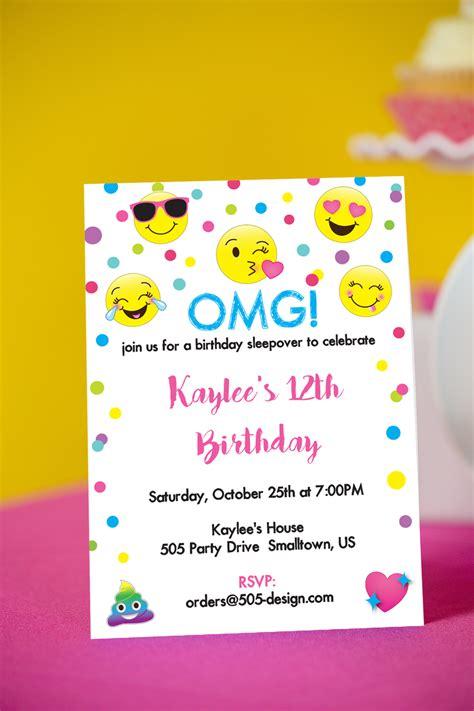 emoji invitation emoji birthday invitation 505 design inc