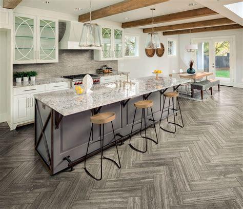 stone  herringbone kitchen floor tile  tile