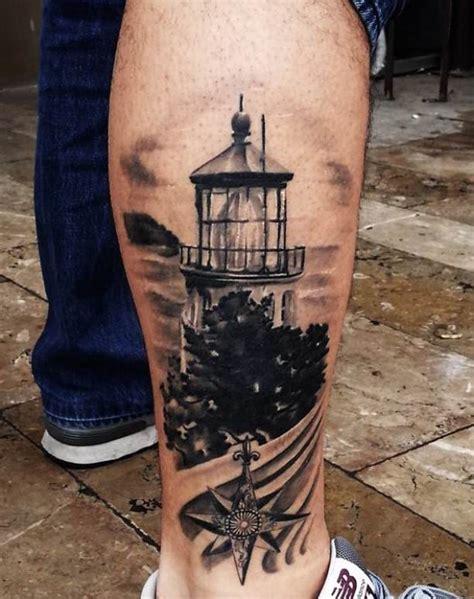 lighthouse tattoos  leg