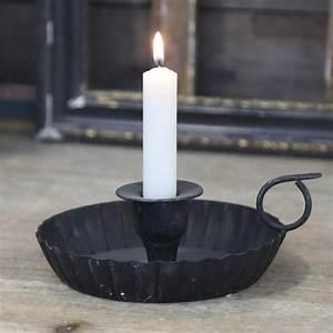 Kerzenhalter Schwarz Metall : kammerleuchter lumi re antik schwarz metall kerzenhalter mit griff shabby french ~ Sanjose-hotels-ca.com Haus und Dekorationen