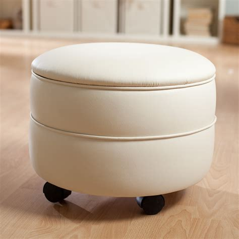 small round leather ottoman furniture round dark brown leather ottoman with wheels
