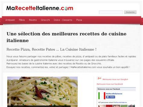 site de cuisine italienne ma recette italienne recettes faciles et rapides de