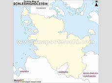 Schleswig Holstein Outline Map, Blank Map of Schleswig