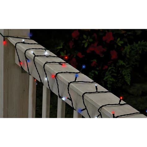 red white and blue lights red white and blue solar string lights 136088 solar