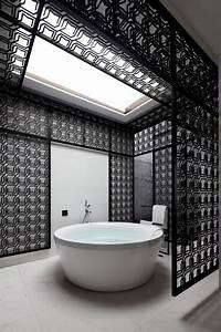 10 idees deco salles de bain noir et blanc contemporaines With salle de bain design avec mug blanc à décorer