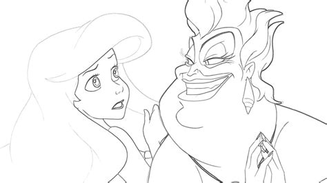 ursula coloring pages costumepartyrun