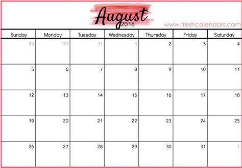 august  calendar printable template source