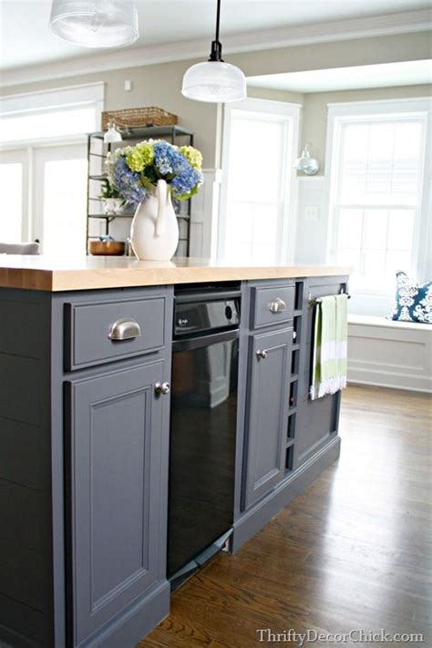 paint kitchen island gray kitchen island painted with peppercorn from