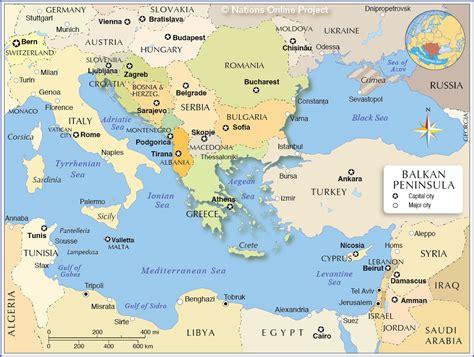 political map   balkan peninsula nations  project
