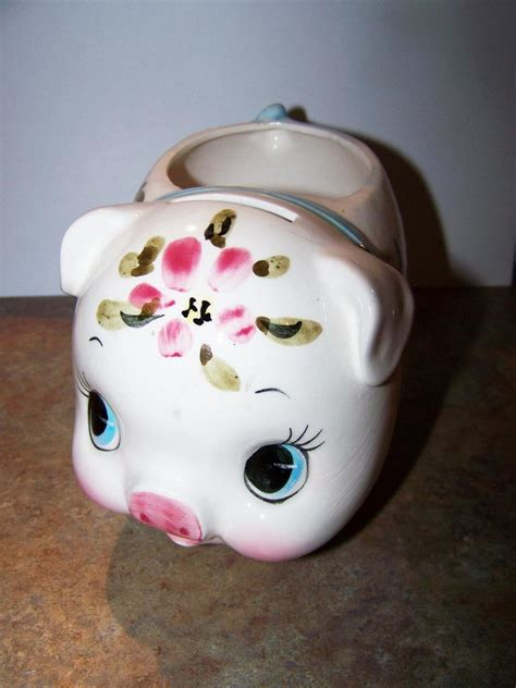6073 porcelain piggy bank ceramic painted piggy bank dollar holder relpo japan