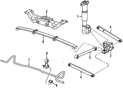 1996 Cadillac Rear Suspension Diagram by 1993 Buick Regal Suspension Arm Rear 10242417