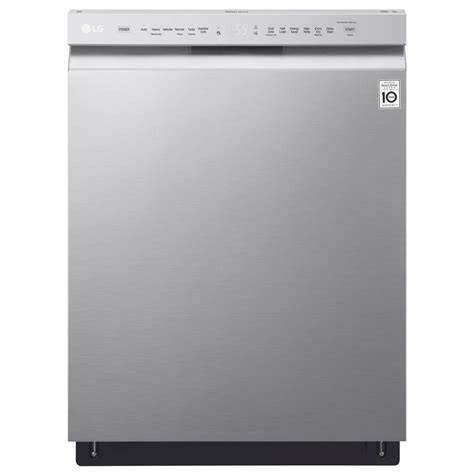 lg ldfst front control dishwasher  stainless steel  stainless steel tub