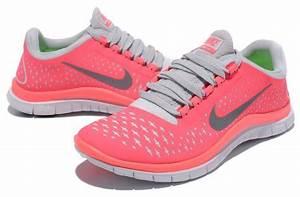 Hot Punch / Pink / Gray / Silver Grey Nike Running Free 3 ...