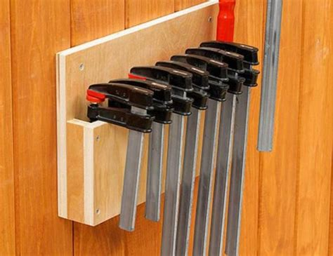 clever clamp storage ideas   small workshop diy