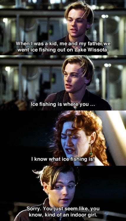Titanic Rose Jumps Off Boat by Lakes Jack O Connell And Ice Fishing On Pinterest