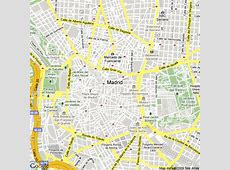 Map of Madrid, Spain Hotels Accommodation