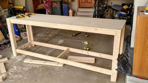 how to build a tool bench for garage workbenches work table
