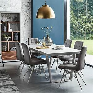 halmstad dining table and 6 hix chairs grey dining sets With dining chairs in living room