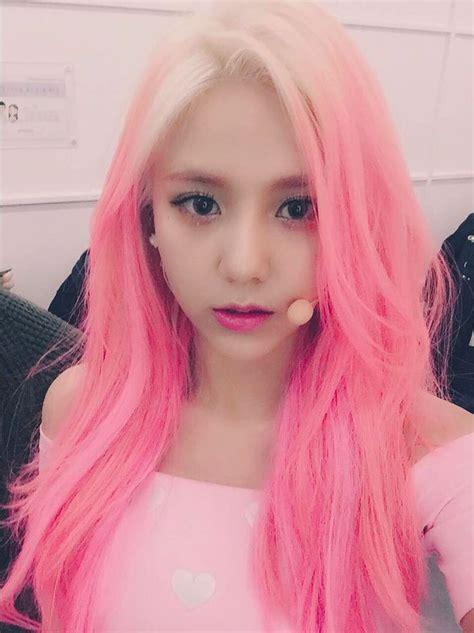 Aoa Hyejeong Pink Hair Aoa Cream Im Jelly Kpop