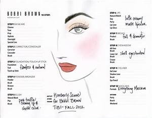 Bobbi Brown Makeup Diagram