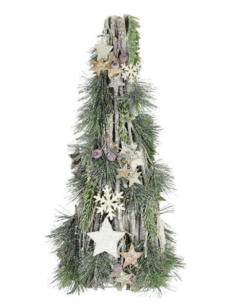 shabby chic tree shabby chic twig table top tree 40cm christmas trees the christmas warehouse