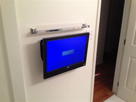 Bathroom Tv Wall Mount Installation Wall Mounted Tv In The
