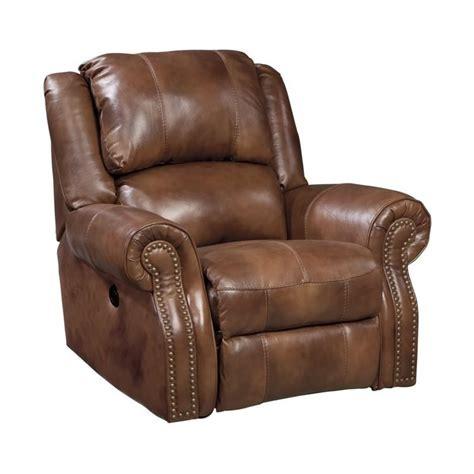 walworth leather rocker recliner in auburn u7800125