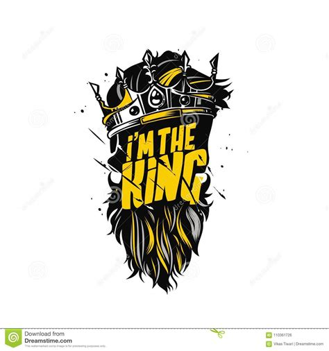King Beard And Crown Vector Illustration. Stock Vector ...