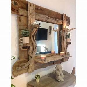 Miroir Bois Flotté : grand miroir en bois flott ~ Teatrodelosmanantiales.com Idées de Décoration