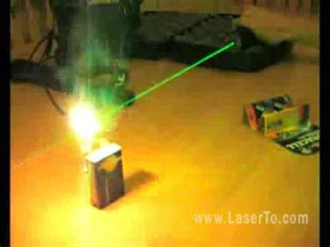 How Can A Green Laser Pointer Make Big Fire Youtube