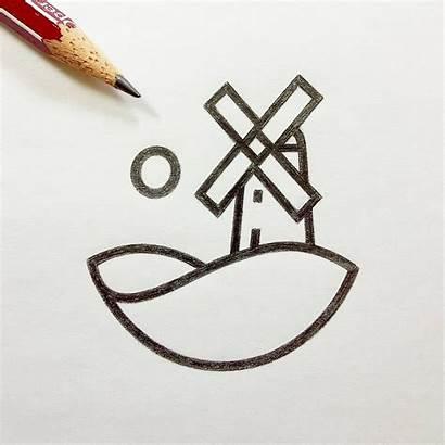 Symbol Instagram Windmill Sketching Icon Nemanja Mark
