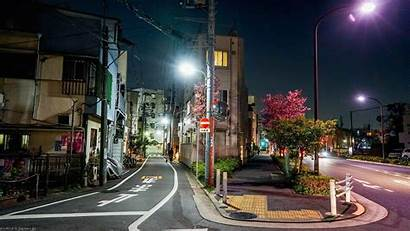 Japan Street Night Road Cityscape Town Downtown