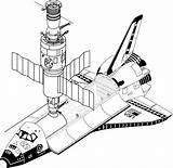 Telescope Hubble Space Drawing Coloring Template Sketch sketch template