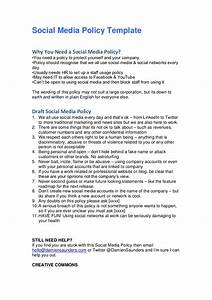 Social media policy template for Social media guidelines template