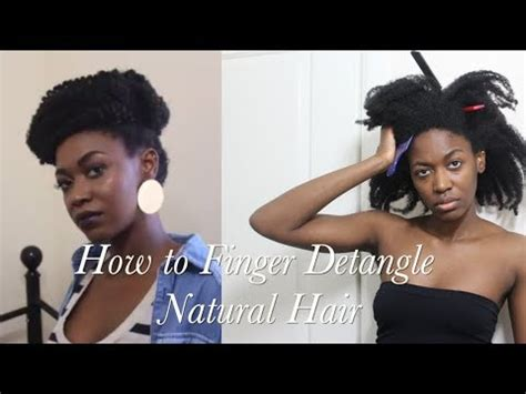how to detangle matted hair how to detangle matted 4c hair finger