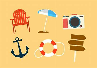 Vector Beach Objects Clipart Badges Graphics Vecteezy