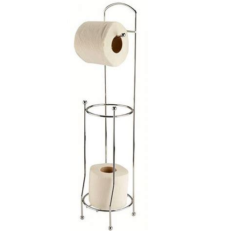 support papier toilette support papier toilettes m 233 tal sur pied avec d 233 rouleur wc