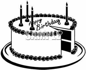 Vintage Birthday Clipart Black And White | Clipart Panda ...