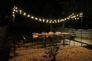 How to hang outdoor string lights lighting